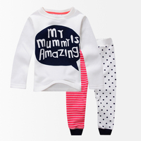 Letter Print Winter Girls Clothing Sets Baby Girls Clothes Girl Thermal Underwear Velvet Long Johns Clothing