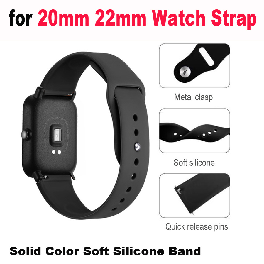 20mm 22mm Bracelet Smart Watch Strap for Xiaomi Huami Amazfit Stratos 2 Pace Bip Lite Band for Huawei Watch GT Honor Magic Bands