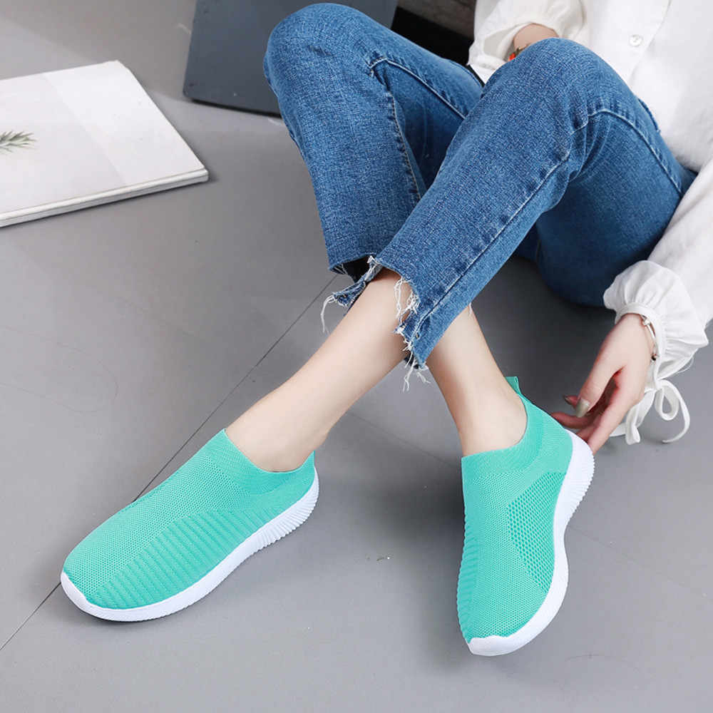 Frauen Outdoor Mesh Schuhe Casual Lace Up Bequeme Sohlen Laufschuhe Sport schuhe Zapatos Leichte Komfortable Athletisch