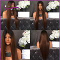 180 Density 1B/33 Brown Ombre Two Tone Full Lace Wig Silky Straight Glueless Lace Front Wig Cheap 100 Human Hair Wig