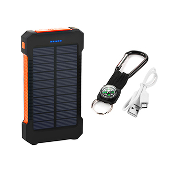 Top Sell Solar Power Bank Waterproof 20000mAh Solar Charger 2 USB Ports External Battery Charger Phone Poverbank with LED Light 7