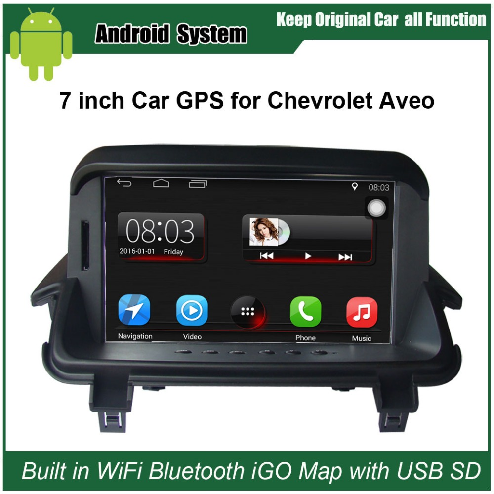 Android 7.1 Upgraded Original Car Radio Player Suit to Chevrolet <font><b>Aveo</b></font> Car Video Player Built in WiFi GPS Navigation Bluetooth image