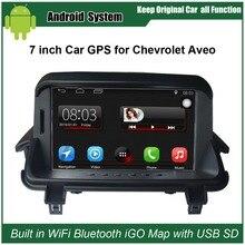 Yükseltilmiş Orijinal Araba Radyo Çalar Takım için Chevrolet Aveo Araba Video Oynatıcı WiFi GPS Navigasyon Bluetooth inşa