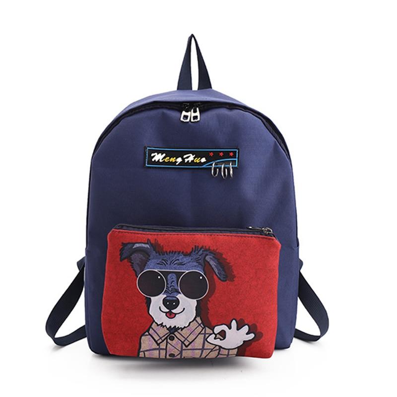 cartoon printing Harajuku ulzzang schoolbag canvas backpacks Women Shoulder bag female School Bags for girls Backpack travel bag