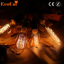 LED Edison Bulb Retro Incandescent lamp E27 Vintage Filament Light 220V T45 Lamp for Home decor Bombillas indoor lighting(China)