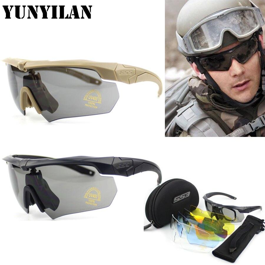 Prix pour Haute qualité TR-90 ARBALÈTE lunettes militaire 3len ou 5 objectif bullet-preuve Armée tactial lunettes avec la boîte d'origine tir lunettes