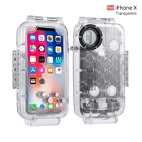 PULUZ 40m/130ft ABS Waterproof Diving Case Black/white/transparent Underwater Housing Cover Protector For Iphone X 5.8 Phone