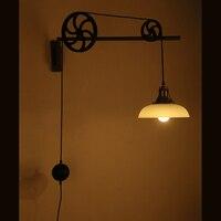 Studio лампа ретро Nordic industrial Телескопический передач бра New Nordic ветер магазин одежды свет Столовая ZH gy328