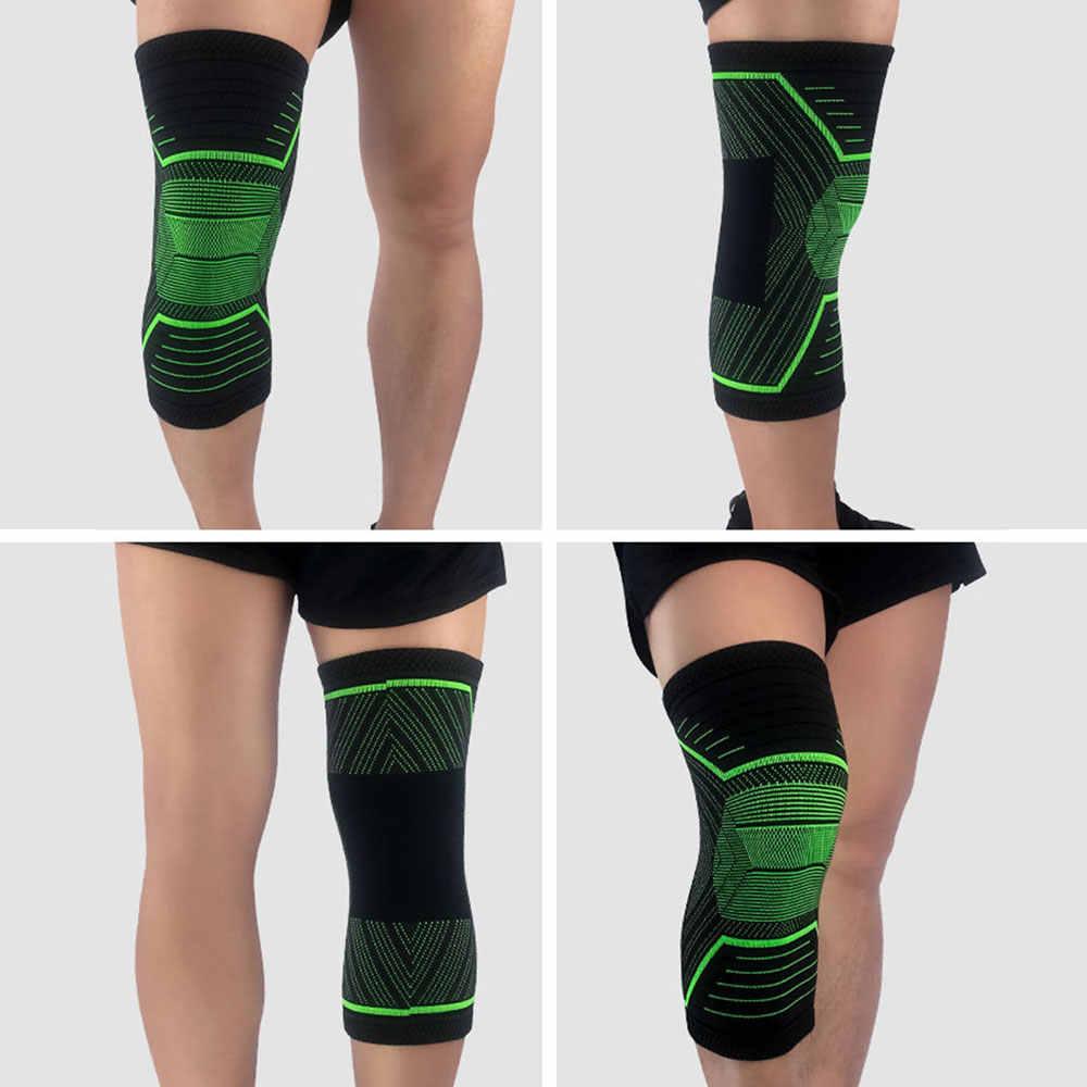 c800b1e336 ... ALBREDA Nylon Elastic Sports Knee Pads Breathable Knee Support Brace  Running Squat Fitness Hiking Cycling Knee ...