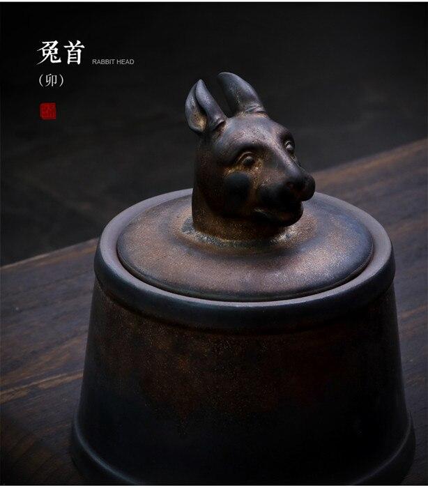 Прах питомца кремации держатель урны собака в память о кошке шкатулка животное на память о похоронах Hond 500 г большой емкости свинья лошадь OXCaskets - Цвет: Rabbit Head