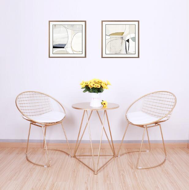 Minimalist metal chair modern chair gold