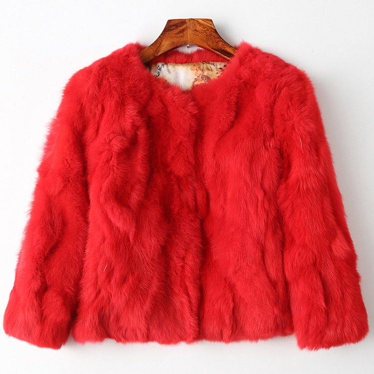 100% genuine real fur jacket women natural fur coat short style famele fashion autumn winter warm femme outwear