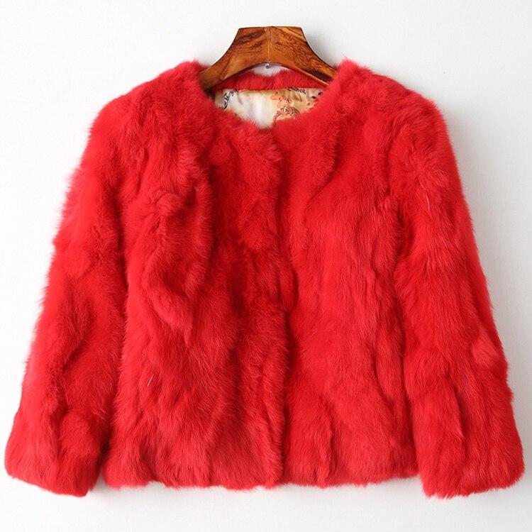2019 100% 本物のウサギの毛皮のジャケット女性の毛皮のコートショート冬の秋の女性のビッグサイズ 3xl 毛皮の生地  グループ上の レディース衣服 からの 本物の毛皮 の中 1