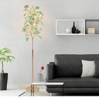 Living room floor lamps simple modern bedroom European style crystal floor lamp wind flower vertical bedside lamp villa lighting