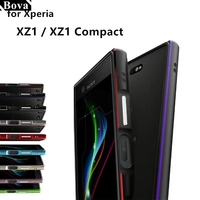 Luxury Ultra Thin Shock Proof Protective Case Aluminum Bumper Case For Sony Xperia XZ1 Compact XZ1