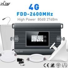 Alta Potência 4g LTE FDD 2600 mhz móvel signal booster celular repetidor de sinal de telefone celular amplificador de sinal com inteligente kit LCD