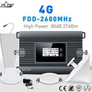 Image 1 - ハイパワー LTE 4 3g 携帯信号ブースター FDD 2600 携帯電話の信号リピータ携帯信号アンプとスマート液晶キット