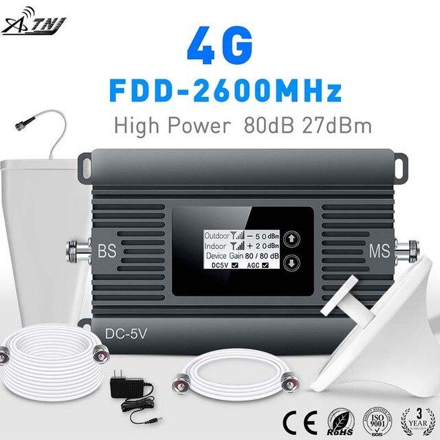 ハイパワー LTE 4 3g 携帯信号ブースター FDD 2600 携帯電話の信号リピータ携帯信号アンプとスマート液晶キット