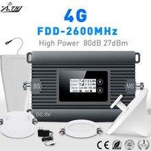 גבוהה כוח LTE 4G נייד אות מאיץ FDD 2600mhz טלפון סלולרי אות מהדר סלולארי אות מגבר עם חכם LCD ערכת