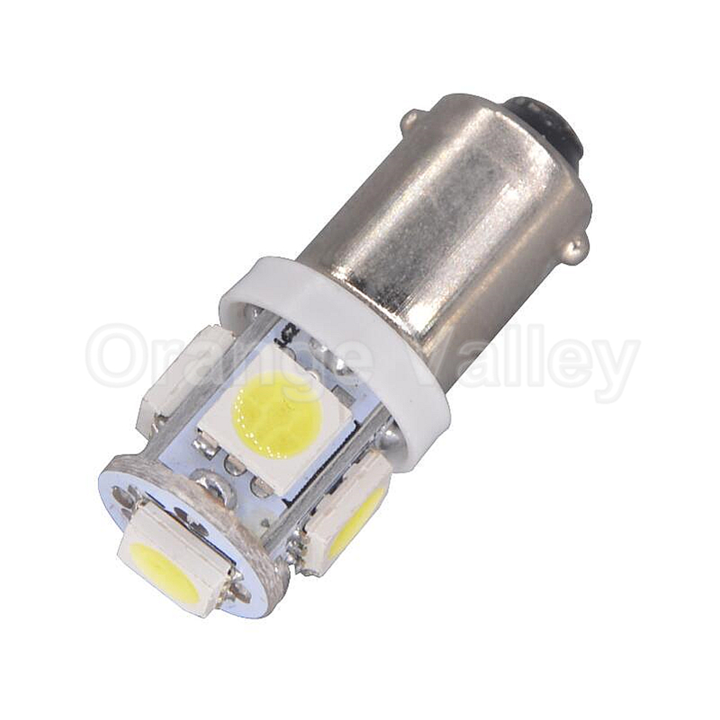 10pcs BA9S T11 H6W 5 LED 5050 SMD Car Interior Lights Reading Dome Lamp Map lighting Auto Bulbs DC 12V