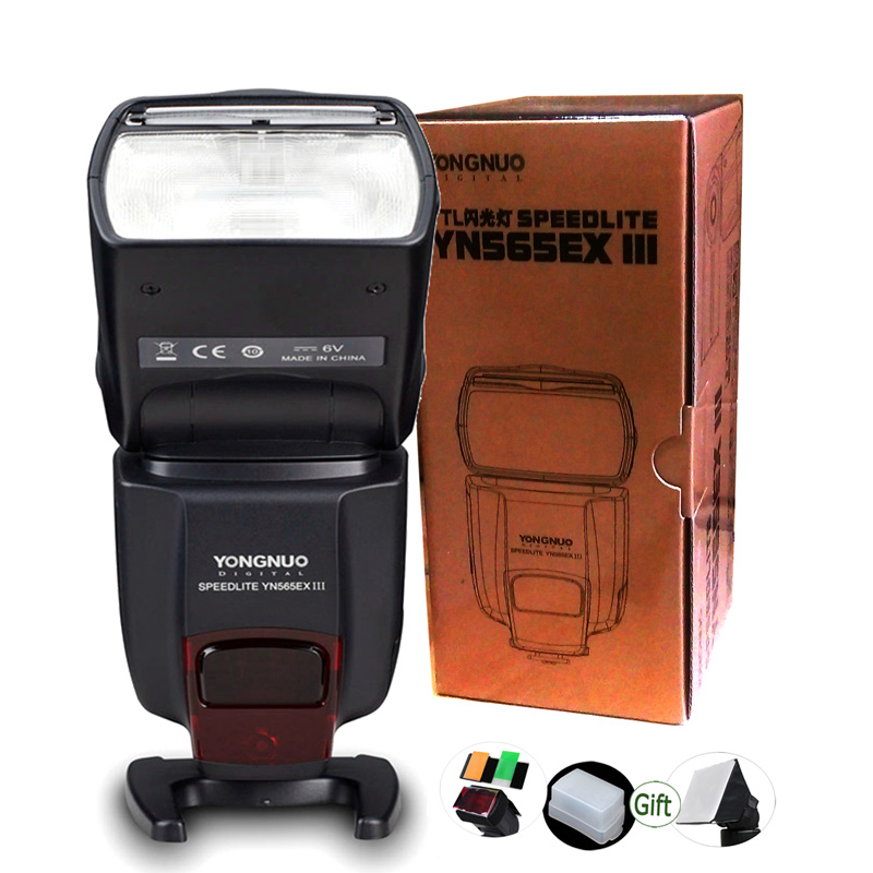 YONGNUO Wireless TTL Flash YN565EX III Camera Speedlite GN58 for DSLR Canon 6D 1D 5D II