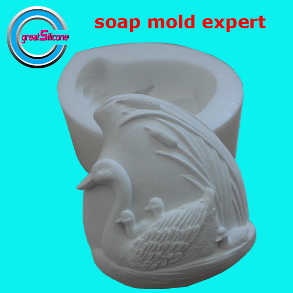 Great-Mold 3D Duck Handmade Silicone Soap Molds DIY Silicone Mould