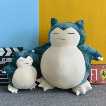 Anime Pokemon Snorlax Cosplay Props Toys Pillow Soft Cotton Kawaii Plush Doll 30cm 50cm Height Kids Child Teens Girls Collection
