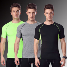 Men's Short Sleeve Clothes Quick-drying Pro Tights Summer Workout Fitness Cycling Compressed Exercise Running T-shirts