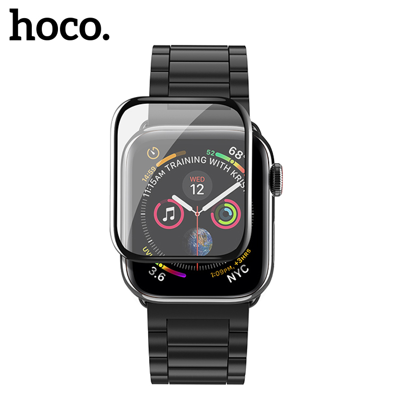 HOCO 3D Curved Screen Protector for Apple Watch 4 9H Full Cover Protective Glass for Apple Watch Series 4 40mm 44mm Thin FilmHOCO 3D Curved Screen Protector for Apple Watch 4 9H Full Cover Protective Glass for Apple Watch Series 4 40mm 44mm Thin Film