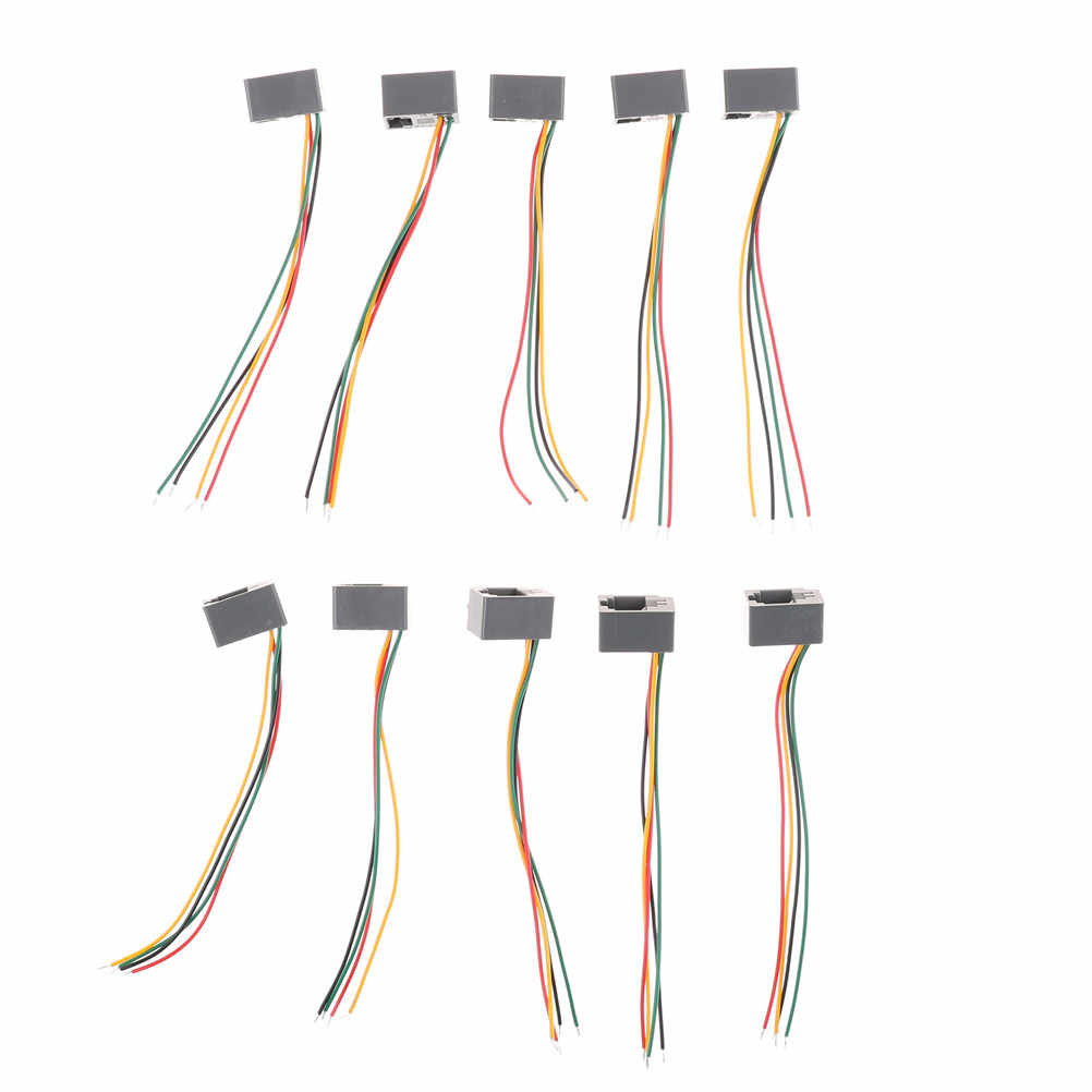 hight resolution of  10 pcs 616e 4p4c rj11 female telephone connector adapter 4 wires 8cm