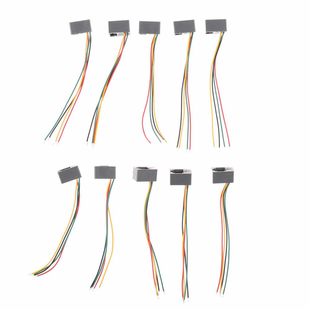 medium resolution of  10 pcs 616e 4p4c rj11 female telephone connector adapter 4 wires 8cm