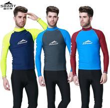 SBART Long Sleeve Rashguard Swim Shirts Men 2015 Summer Anti UV Quick Dry Rash Guard Surf Shirt UPF 50+ Scuba Diving Suit