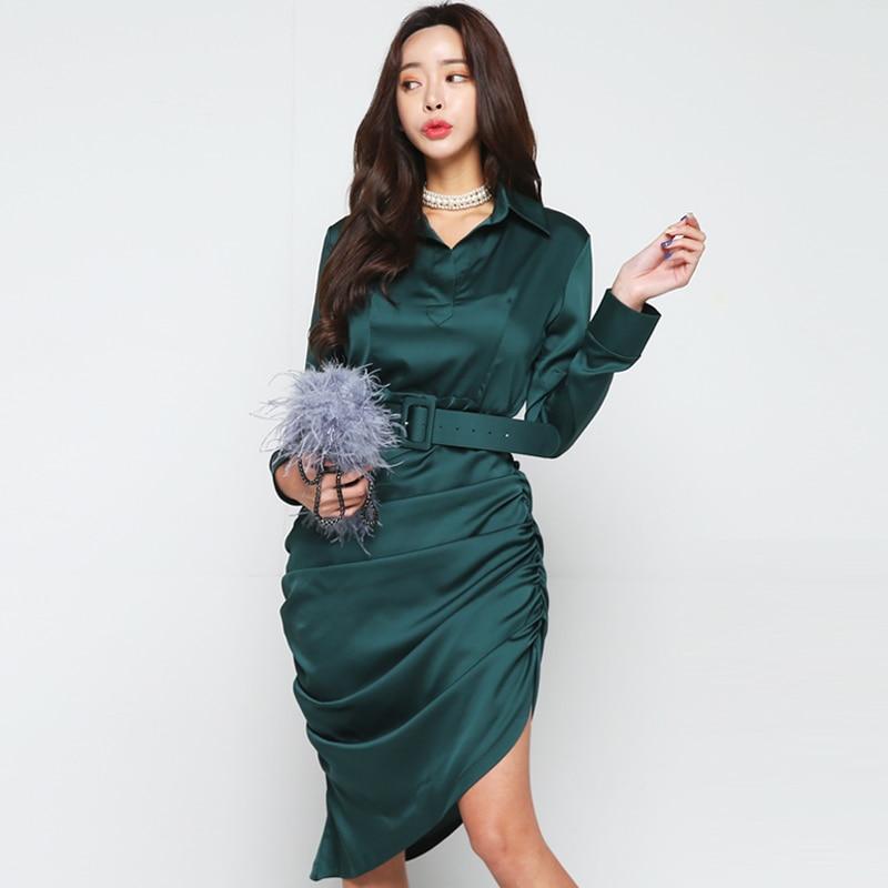 aeecf788625 Longue Robes Femme Navy Style Femmes Coréenne De Ol Moulante Crayon Bureau  Élégant D été Travail ...