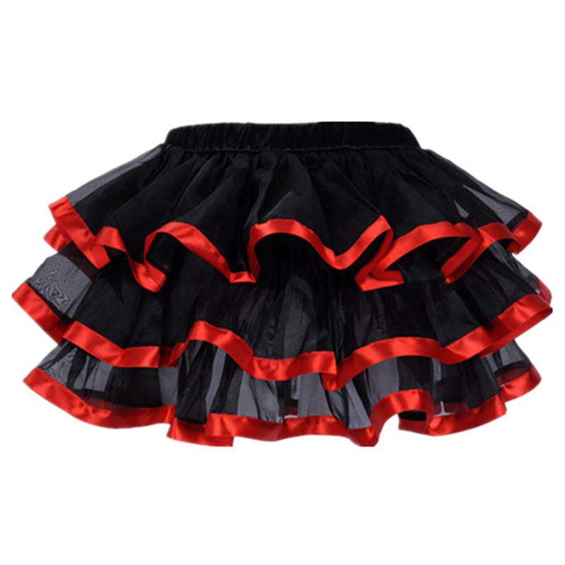 Women's Sexy 5 Color 3 layer Tulle Tutu Skirt Costume Adult Petticoat Fit Corsets Petticoat Dancer Cabaret Fancy Hen Party Lady