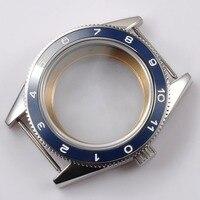 41mm Blu Lunetta In Ceramica Artificiale Sintesi Vetro Zaffiro Watch Case Fit 2824 2836 Movimento ETA