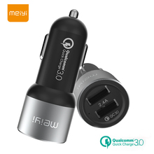 MEIYI Quick Charge 3.0 Car Charger QC3.0 Fast Charger Adapter 2 Port USB for iPhone X 8 7 Samsung Xiaomi HTC Tablet Car-Charger 2 port mini dual usb car phone charger adapter fast charge 5v 2 1a for iphone samsung xiaomi htc audio input for toyota vigo