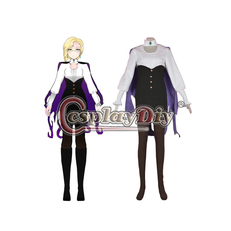 Cosplaydiy RWBY Beacon Academy staff Glynda Goodwitch Cosplay Costume Halloween Carnival Party Costumes Custom Made D0415