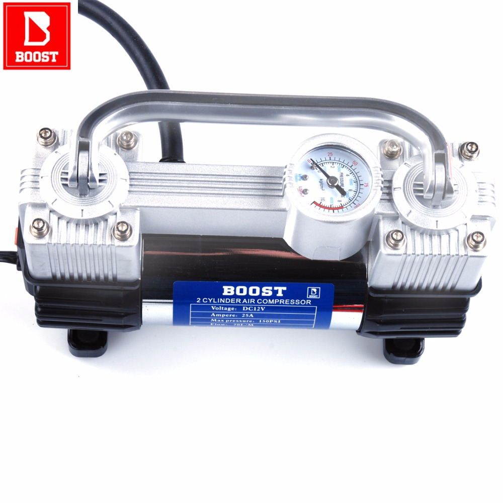 BOOST 582 Car Air Compressor 12 Volt Electric Pump For Car Tyre Inflatable Boat Pumping Pumps Compresor Tire Inflator Portable