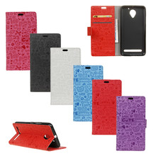 Cartoon Phone Bag For Lenovo Vibe C2 Power Graffiti Leather Wallet Protective Cover For Lenovo Vibe C2 Power Case Card holder