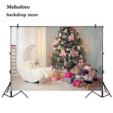 Mehofoto Newborn Baby Shower Photo Background Christmas Tree Photography Backdrop Wooden Floor Board Back Drop 7x5ft Cloth 147(China)