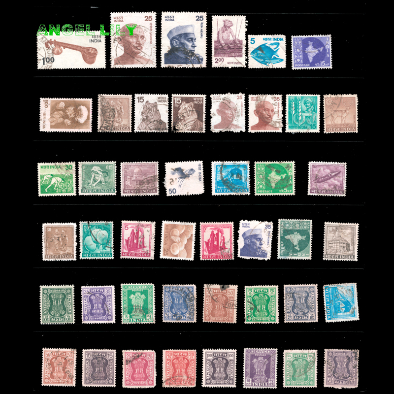 Us 2 99 25 Off 40 Pcs Lot India Used Postage Stamps With Post Mark For Collection Gift In Stickers From Home Garden On Aliexpress