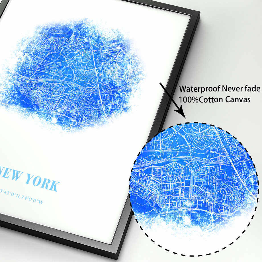 New York Tokyo Paris London City Map Wall Art Canvas Painting Nordic Posters And Prints Wall Pictures For Living Room Home Decor