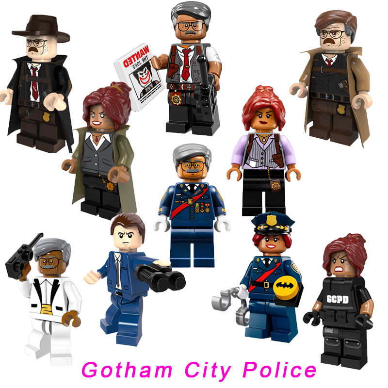 Gotham City Police Super Heroes Barbara Gordon Mayor Tan Dick Grayson James Gordon Legoelys Star Wars อาคารบล็อกของเล่น