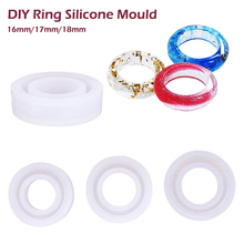 resin mold Transparent Silicone Mould Dried Flower Resin Decorative Craft DIY arc ring Type epoxy molds for jewelry