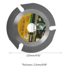 Hot 2 PCS Oscillating Tool Accessories Cemented Carbide Outer Diameter 125mm Inner 22.22mm Thickness 2.2mm Teeth 3T
