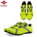 Santic обувь для шоссейного велосипеда обувь для велоспорта Мужская Нескользящая дышащая обувь для шоссейного велосипеда спортивные велосип...