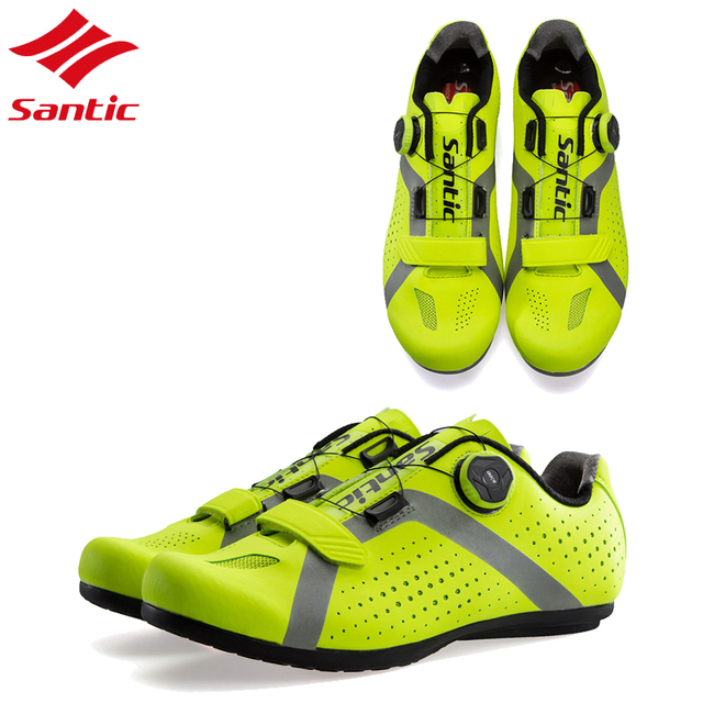Santic Road Bike Shoes Cycling Shoes Men Non-Locking Breathable Road Bicycle Shoes Sport Cycling Sneakers Zapatillas Ciclismo