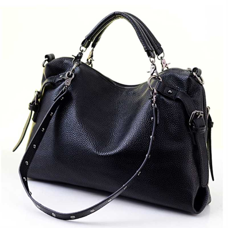 d3e59c90096 Lady Rivet Crossbody Bag Women Motorcycle Bags 2017 New Fashion Handbags  Studded Shoulder Bag Messenger Female Handbags Soft