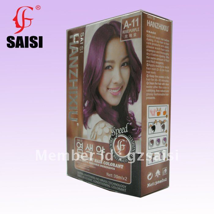 ROSE PURPLE 30mlx2 Permanet Hair Color Dye With Vegetable Ingredients 25 Colors In From Beauty Health On Aliexpress