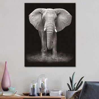 Wildlife Colorful Elephant Picture Canvas Print Oil Painting Home Decor Picture For Bedroom Industrial Loft Livingroom image